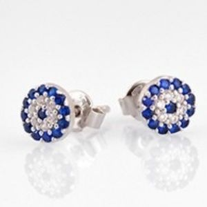Jewelry - EVIL EYE CZ STERLING SILVER EARRINGS